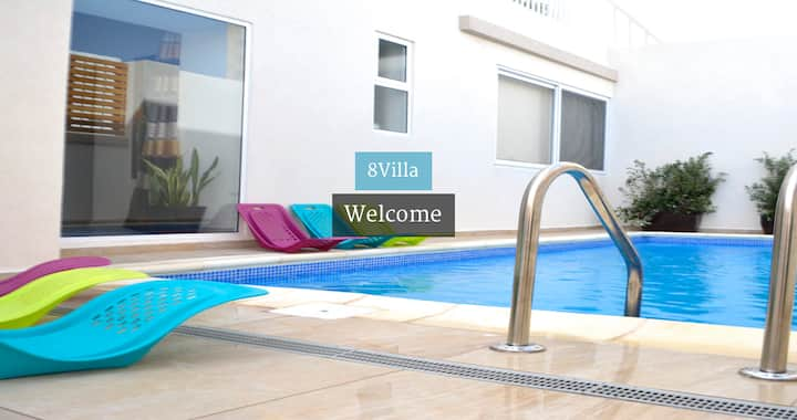 8Villa B&B in St Julians,  double bedroom