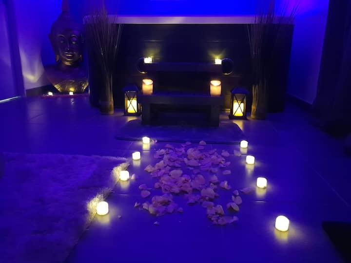 voyage d une nuit chambre zen avec jacuzzi