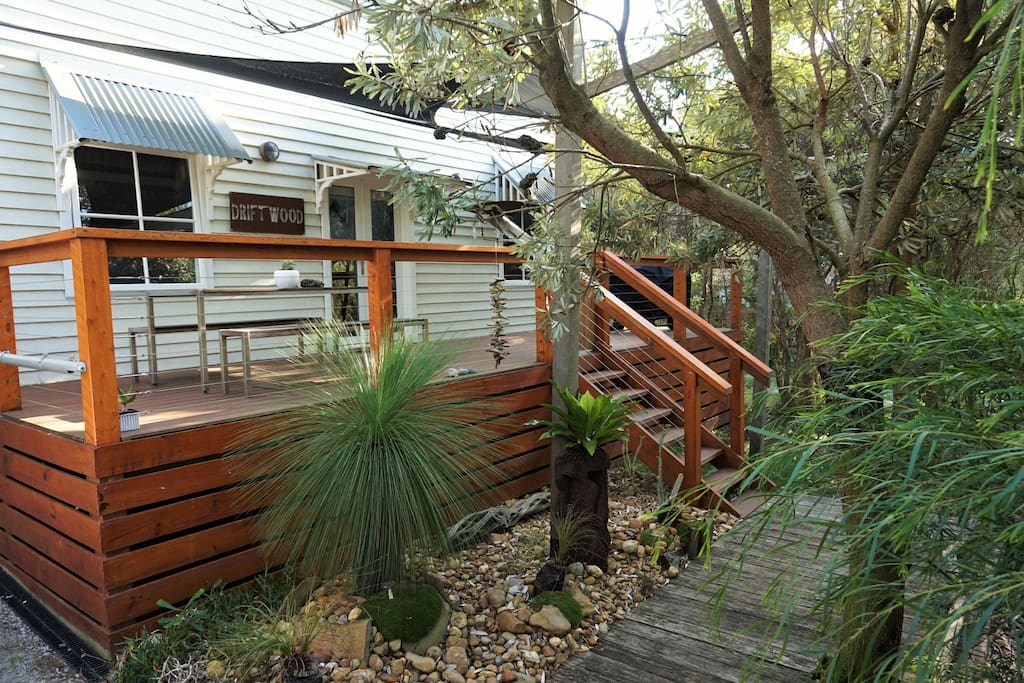 Boardwalk to Sunny front deck