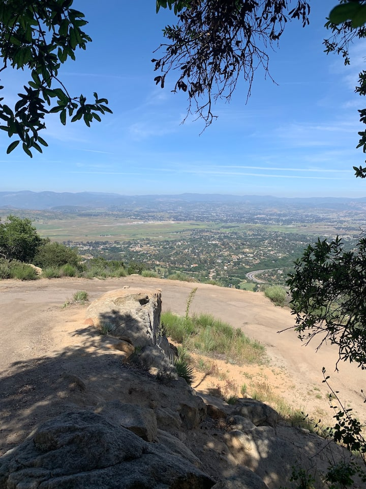 Views of Ramona, CA from the trail.