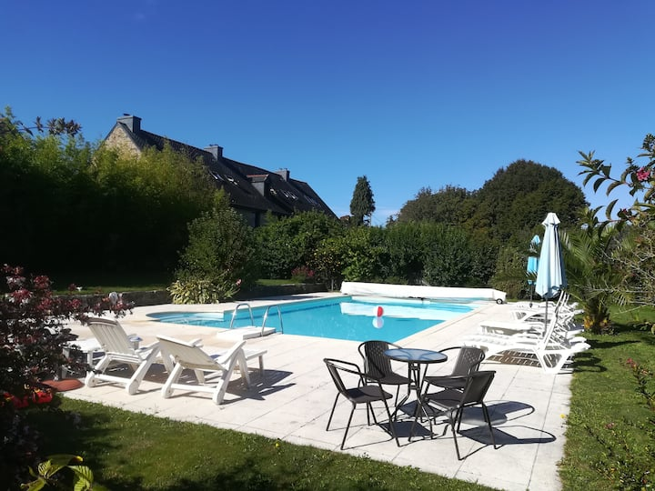 Keranmeriet M, heated pool, beaches 15 mins drive