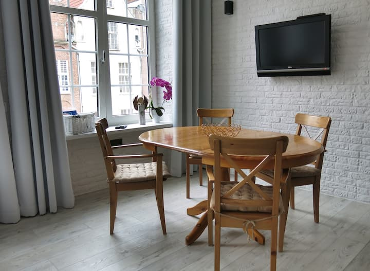 Apartment with mezzanine in heart Old Town Gdansk