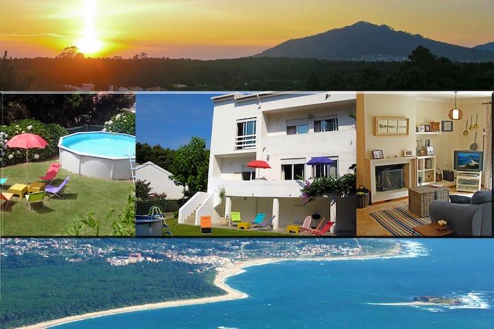 Beach house in Moledo, Caminha, w/ Pool