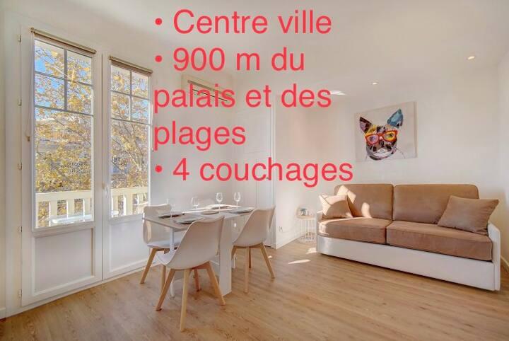 Studio rénové centre 800m du palais des festivals