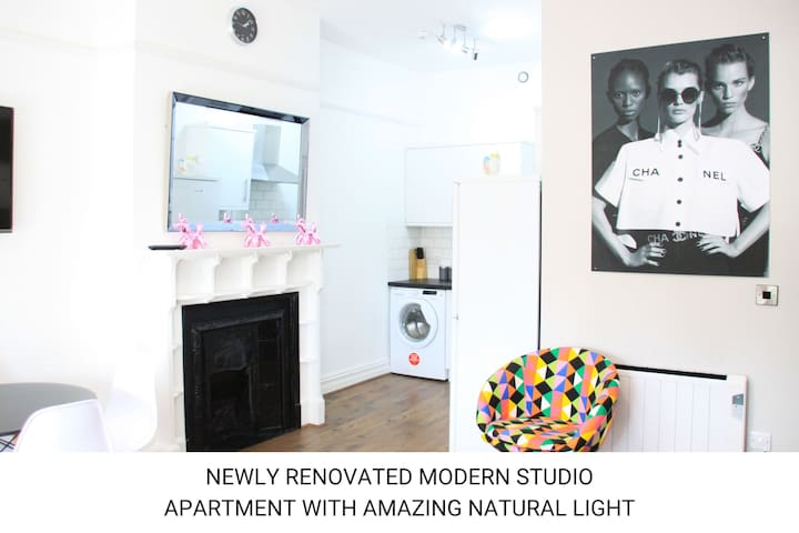 Studio apartment for up to 3 by Southampton Common