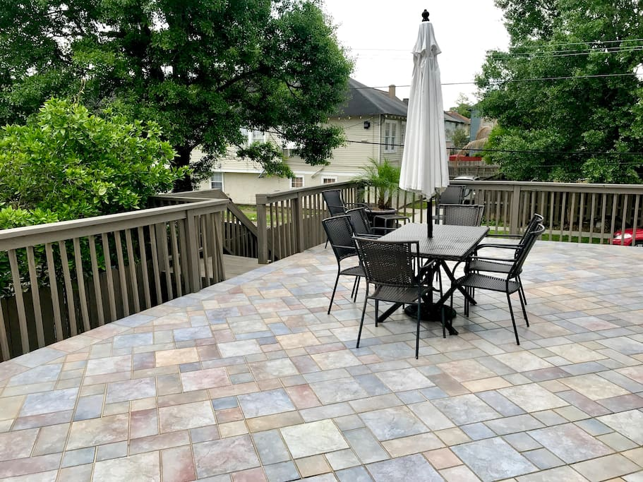 2nd level outdoor deck- right off courtyard entrance