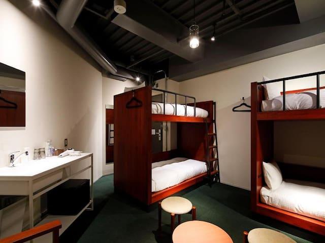 3mins->Suehirocho/Economy 4ppl Room