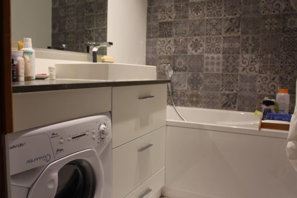 salle de bains équipée