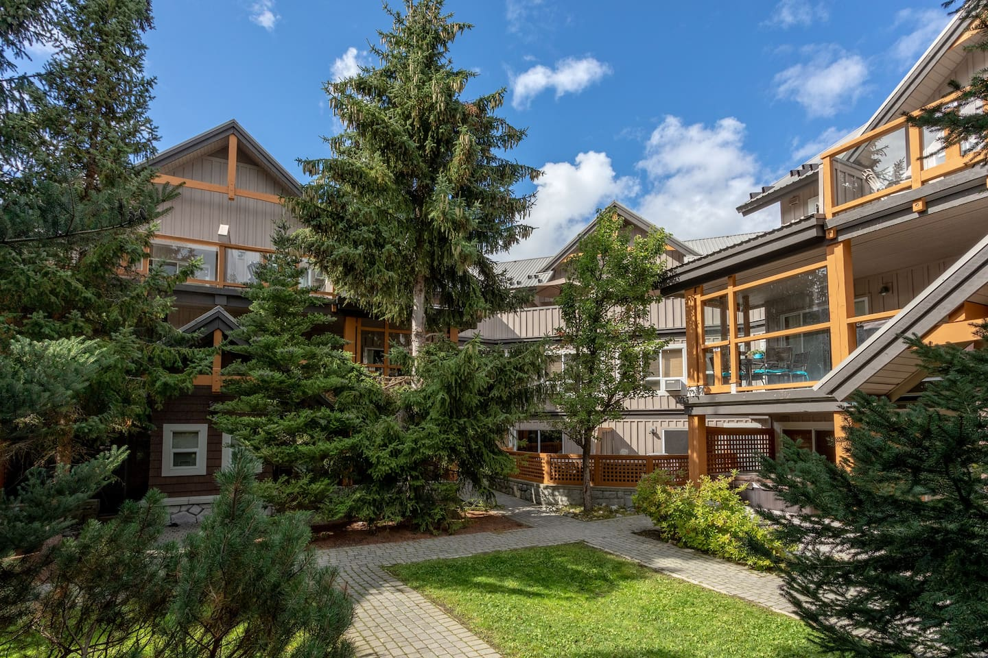 Looking for a large group and want to stay IN WHISTLER VILLAGE?? Our Property is located in Glaciers Reach, a local favourite and situated in Whistler Village. These are two separate townhouses connected with an internal door in the living room.