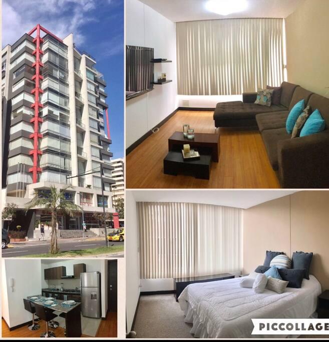 Suite ubicada cerca de los nuevos centros comerciales en Quito, excelente ubicación