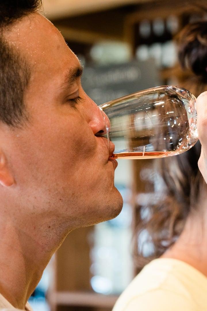 Taste local wine on Ile d'Orleans