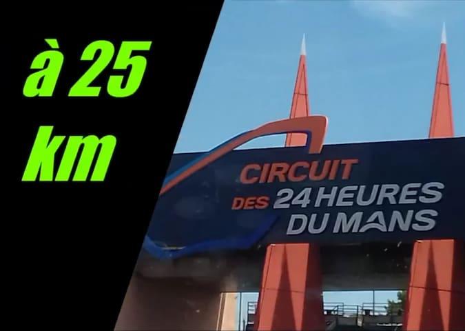Le circuit mythique des 24h du Mans est à 25 km du gîte Pasteur de Noyen-sur-sarthe, la proximité pour se reposer et profiter à fond des événements !