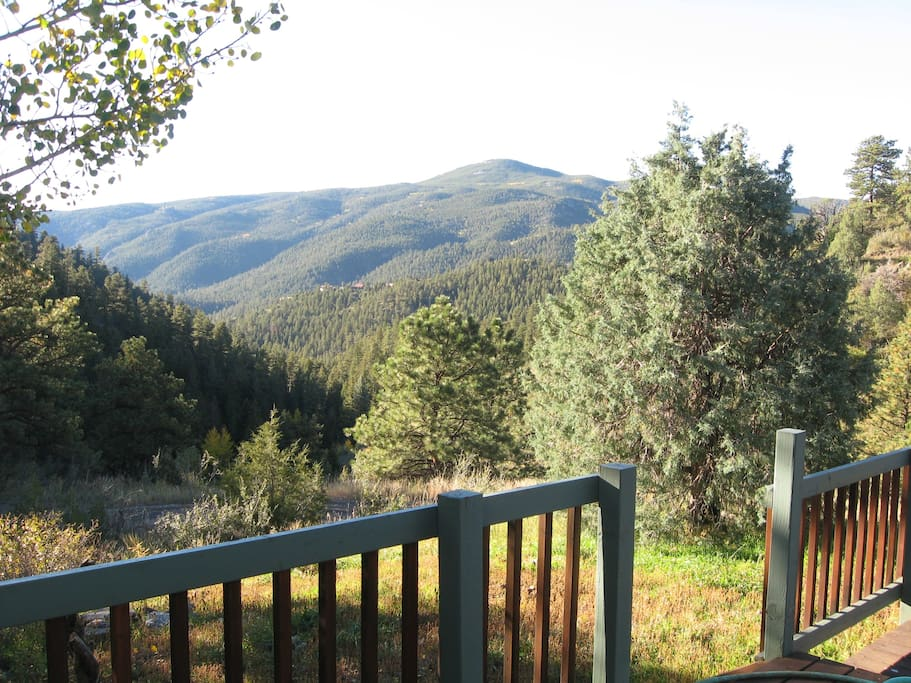 View of Crosier Mountain from the deck