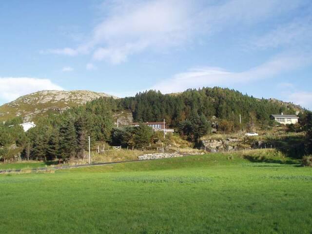 Har utsikt over Kråkenes bygda.