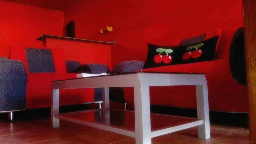 Suite in El Pacha disco. Inside club!