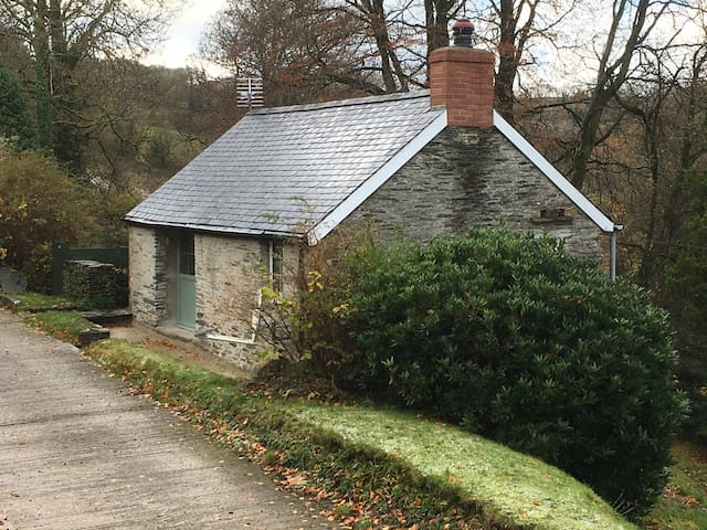 Troedyrhiw Cottage, Quiet beautiful wooded valley - Cwm-Morgan - Hus