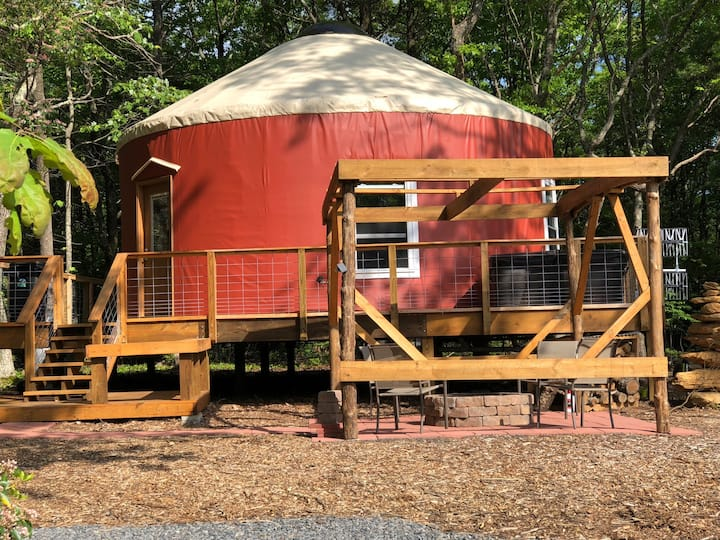Yurt on the BRPW (hot tub included)