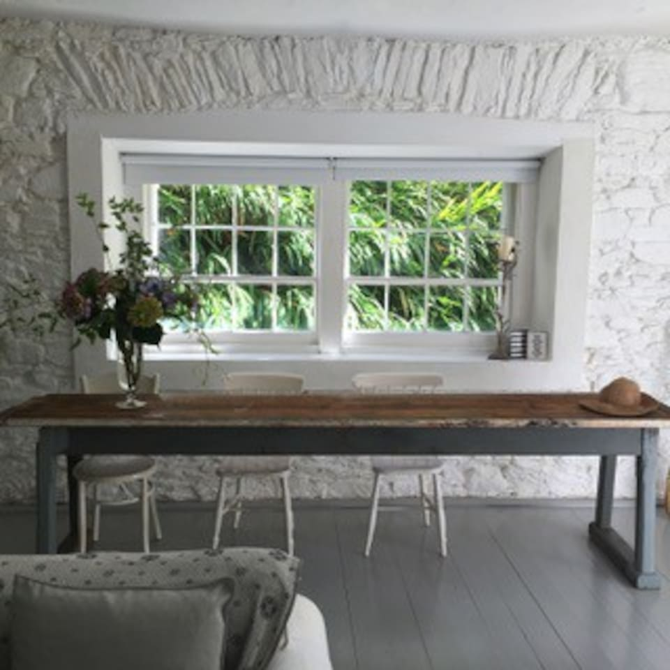 The dining area in living room. Seats 10