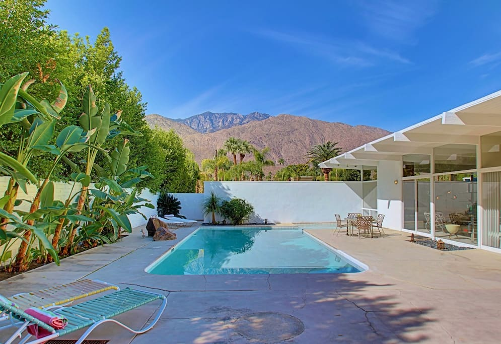 Stunning 30 x 15 x 7 south facing pool with mountain views