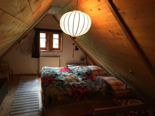 Schlafzimmer in der Dachetage