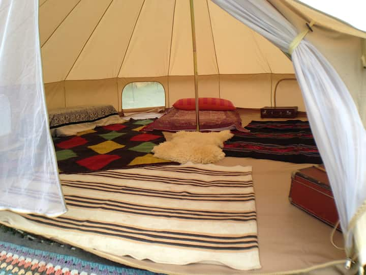 Glamping circus tent in village near Melnik
