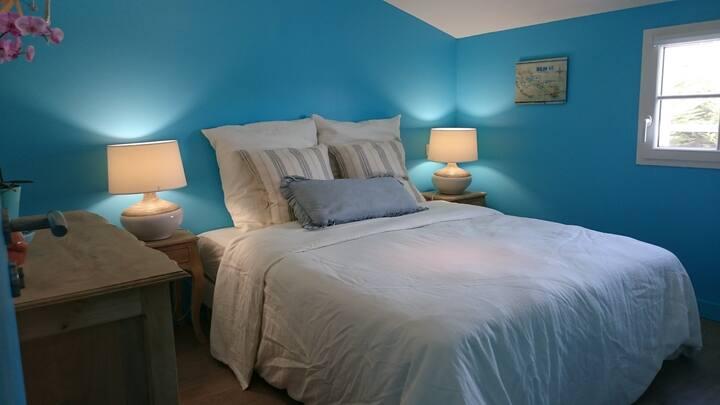 La Couardaise et sa chambre bleu Cyan