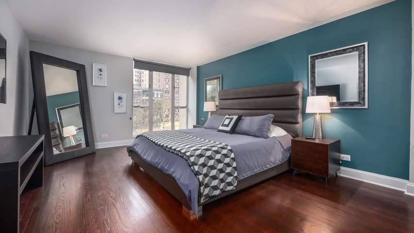 Upscale 2BD in downtown Chicago, fast wifi