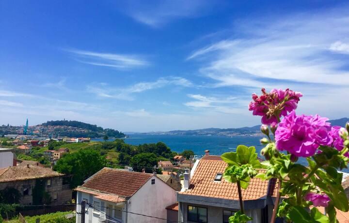 Apartamentito vistas bahía de Vigo a 200m playa