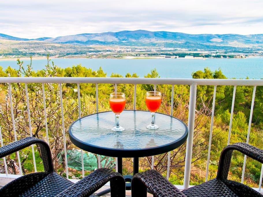 """Island Ciovo, Dalmatia, Croatia, Apartment """" Kadulja  2 """""""