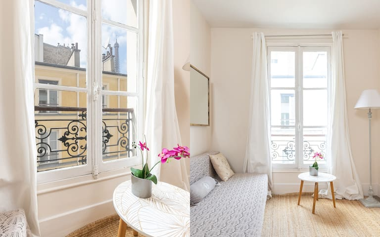 Parisian Authentic flat with the Eiffel Tower view
