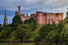 Inverness Castle - seconds walk from no7