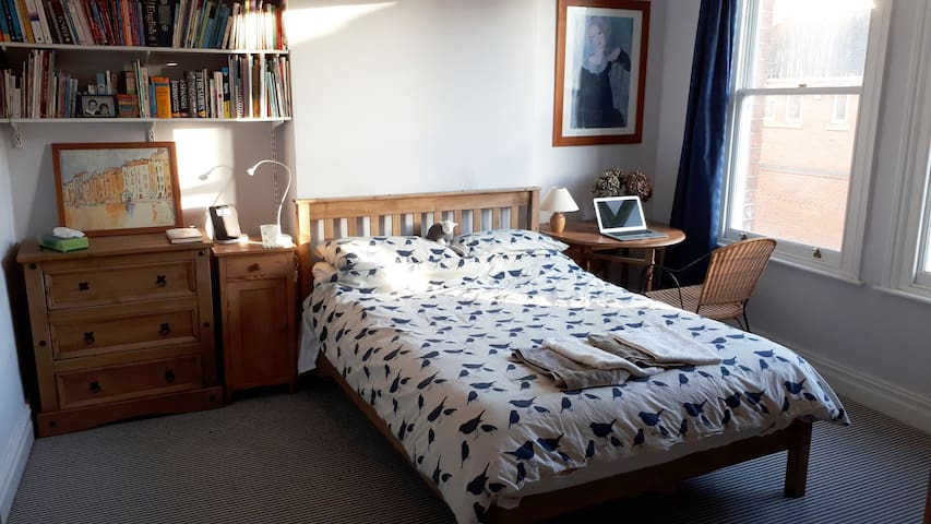 Light spacious double room with parking - Hereford
