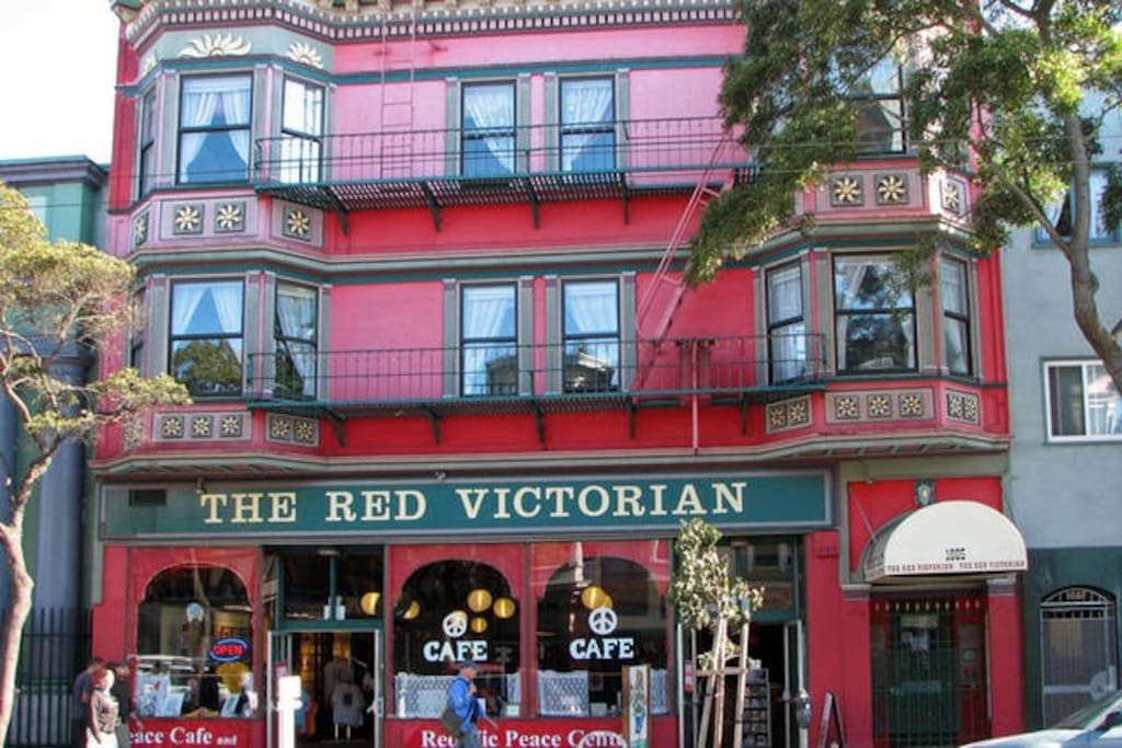 Historic facade of the Red Vic