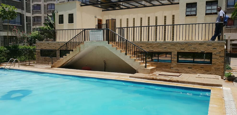 Greencity palace,7mins from JKIA,With pool & gym