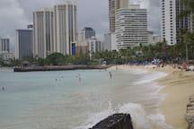 10 Minutes walk to Waikiki Beach