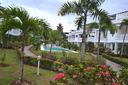 1 BDRM beachfront Apt. steps from Playa Popy beach - Las Terrenas - Condominium