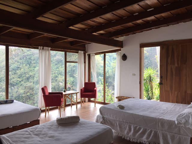El Salto Waterfall Family Room 5p - Paraíso - Bed & Breakfast