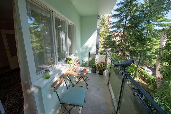 Balcony - with garden view
