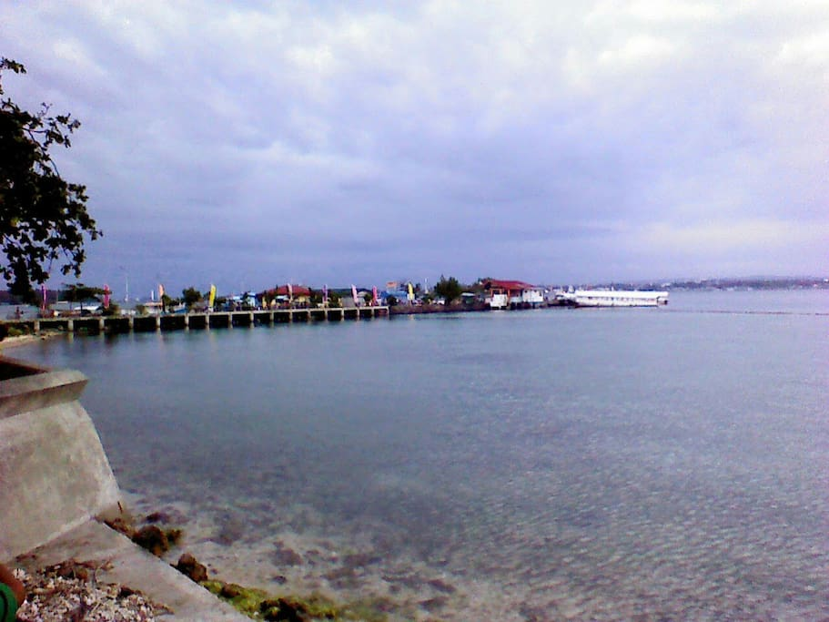 This is a view of the pier where you can catch the ferry between Samal and Davao city