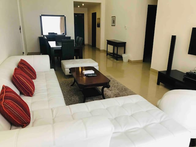 3 BR furnished apt in seef close to malls .