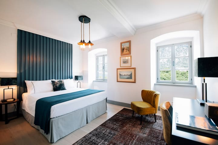 Mid Blue King bedroom
