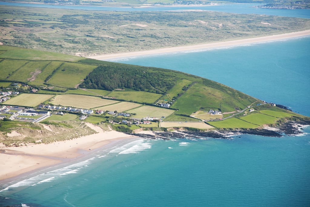 Croyde Bay with Saunton Sands in the background