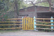 Private Santa Cruz Beach House with gated entry and off-street parking on Main Paved Road between 2 volcanoes on Ometepe Island
