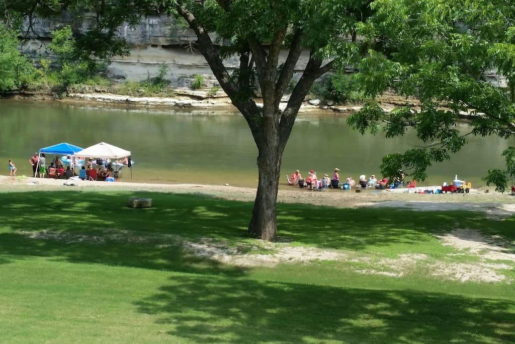 Private river park