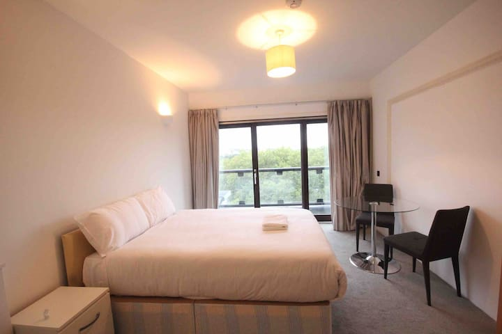 Bright Double Room with Balcony in Regent's Park