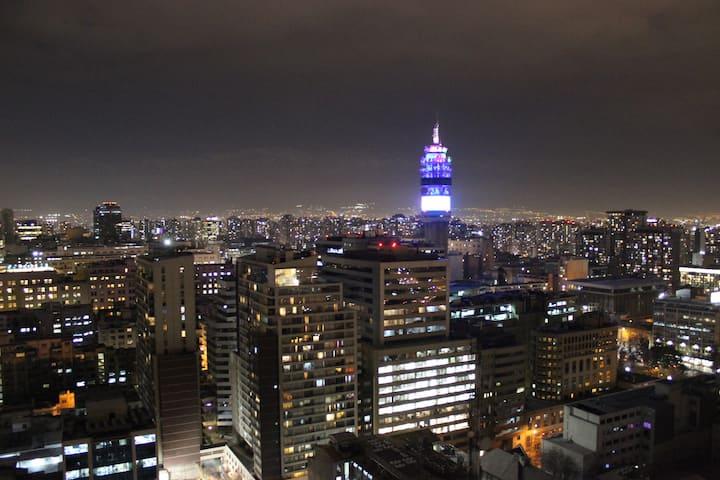 Moderno loft con la mejor vista de Santiago
