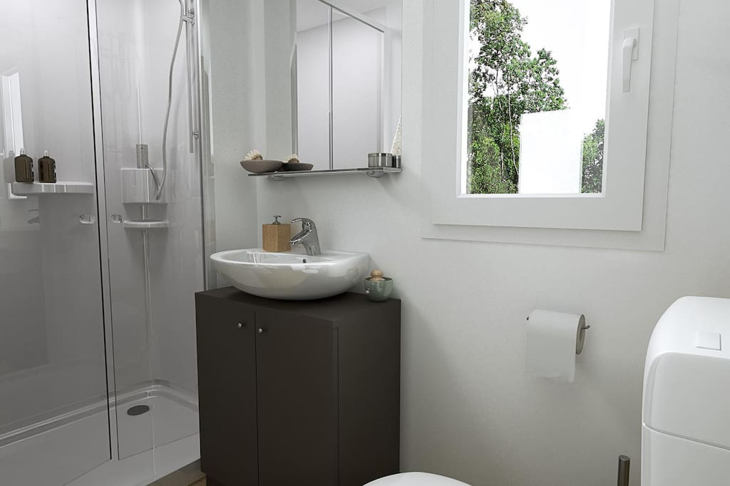 Mobile Home Bronze Bathroom