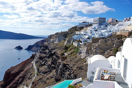 Nos apts for 3 in Oia sea view - Oia - Bed & Breakfast