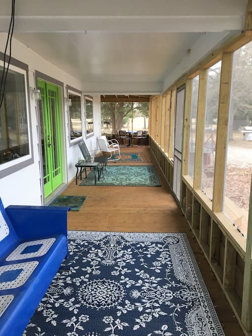 Wrap-around, screened-in porch adds 600 square feet of living space