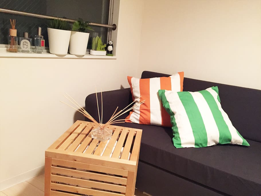 304 Private Room with 1Bed, workspace, Sofabed,